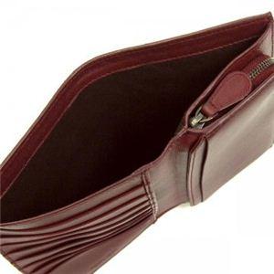 BOTTEGA VENETA(ボッテガベネタ) 二つ折り財布(小銭入れ付) PORTAMONETE INTRECCI 114074 6130 ワイン