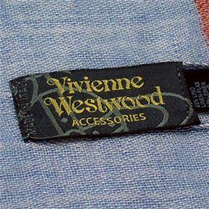 Vivienne Westwood(ヴィヴィアンウエストウッド) スカーフ F676 3 ブルーのロゴマーク
