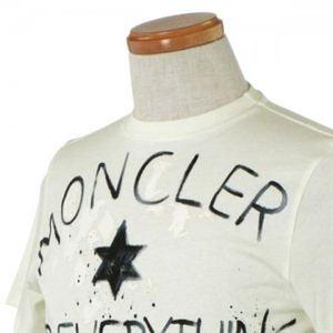 MONCLER(モンクレール) メンズポロシャツ 8019750 4 アイボリー (L65 S19.5 W44.5 SH40 S)