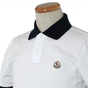 MONCLER(モンクレール) メンズポロシャツ 8316450 1 ホワイト (L64.5 S18.5 W46 SH42 S)