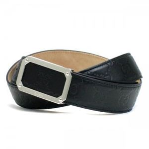Gucci(グッチ) ベルト 162946 AOVON 1000 ブラック (長さ94.5/104.5)