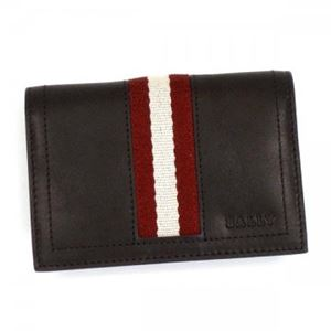 Bally(バリー) カードケース TOBEL 271 CHOCOLATE RED/WHITE