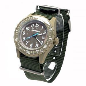 HAMNETT(ハムネット) 時計 HA290191 91 カーキー(ケース) ブラウン(文字盤)