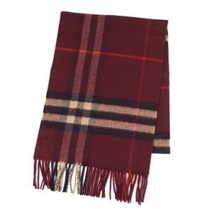 Burberry(バーバリー) マフラー  GIANT ICON 168 CORE CASHMERE  CLARET CHECK