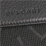 ブルガリ 25118 MAXILETTERE BK Wホック財布・黒