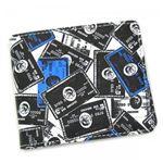 DIESEL(ディーゼル) 二つ折り財布(小銭入れ付) MONEY-MONEY XP56 H2999 ブラック/ブルー H9.5×W11×D2