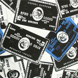 DIESEL(ディーゼル) ナナメガケバッグ CRAZY CARDS XT45 H2999 ブラック/ブルー H23×W19×D7.5