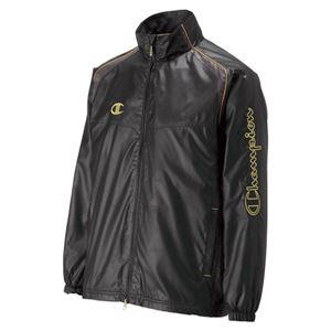 Champion(チャンピオン) ウィンドブレーカーシャツ CJ1540 ブラック×ゴールド S