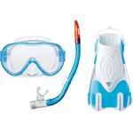 AQA(アクア) マスク&スノーケル&フィン3点セット AQAスノーケリング3点セット ライトM クリスタルサックス KZ9212の詳細ページへ