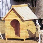 【ペット用】テラオ 屋外両屋根犬舎 木屋根 L SP-L