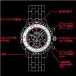 P.GUIONNET フライトタイマー9  BR900NY/ブラック×ゴールド