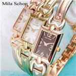 Mila Schon(ミラ ショーン)パルマ ブレスウォッチ PA5000GP/ホワイトシェル×ゴールド