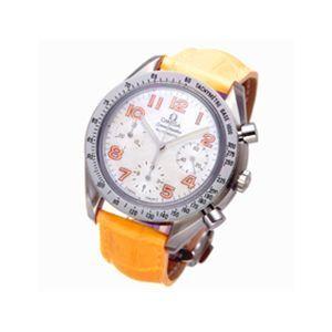 OMEGA スピードマスター レザー 3834 オレンジ