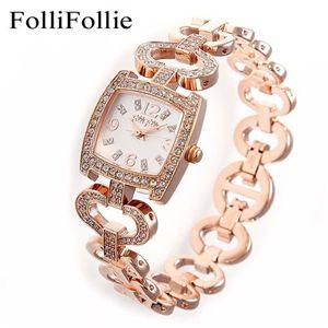 Folli Follie パヴェブレスウォッチ WF5R120BSS