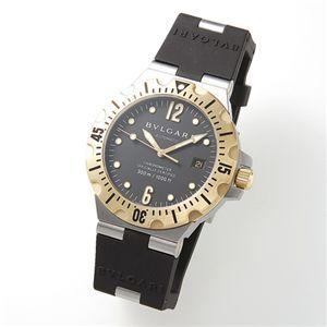ブルガリBVLGARI/SD40SGVD腕時計ディアゴノメンズスクーバブラック