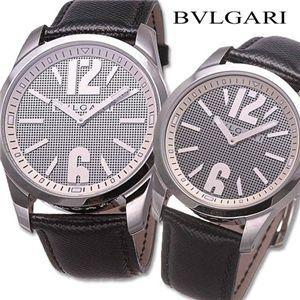 BVLGARI ソロテンポ レザーウォッチ ST37SL/ST42SL メンズラージ