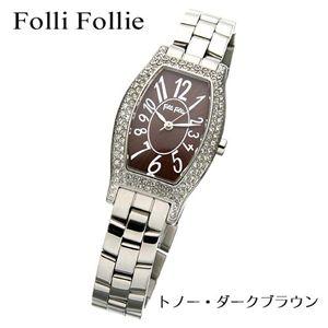 商品画像フォリフォリ/Folli Follie トノーウォッチ WF5T084BPB/トノー・ダークブラウン