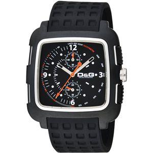 【送料無料】 D&G(ディー&ジー) 腕時計 SQUAREブラック DW0362