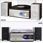 exemode CD・レコード・SD・USB・FM/AMマルチコンポ ゴールド