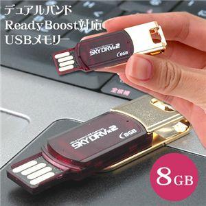 デュアルバンド ReadyBoost対応 USBメモリー 8GB