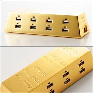 """あなたも億万""""ハブ""""長者に☆「金塊USBハブ(Hub)2.0」の商品画像大3"""