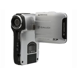 GREENHOUSE SDカード対応デジタルビデオカメラ <br>GHV-DV24SD シルバー