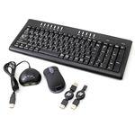 ワイヤレスマルチメディア・キーボード/ワイヤレスマウス(充電式) 3R-WK2121 ブラックセット