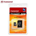 【30%OFF】Transcend メモリースティックProDuo変換アダプター【microSD 2GBセット】