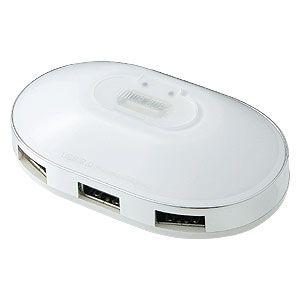 サンワサプライ USB2.0ハブ(4ポート・ホワイト) USB-HUB222WH 3セット
