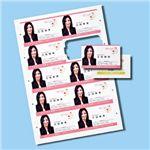 サンワサプライ インクジェットまわりがきれいな名刺カード・光沢(A4、10面、10シート100カード入り) JP-MCC05K 8セット