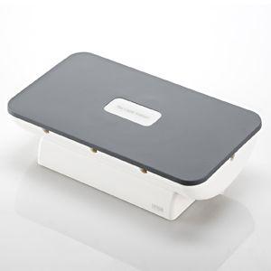 サンワサプライ 携帯電話・iPhone・iPod用ケーブル収納ボックス(ブラック) PDA-STN4BK 3セット
