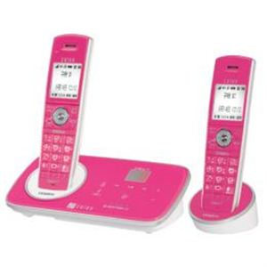 ユニデン 1.9GHzデジタルコードレス留守番電話機 子機2台タイプ(ローズ) DECT3280-2(RO) DECT3280-2(RO)
