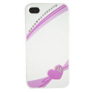 icover iPhone4S/iPhone4用ケース Swaravski Design シリーズ Heart Ribbon Crystal AS-IP4SV7-W