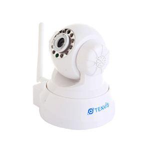ロジェムインターナショナル 遠隔操作可能!離れた場所から監視できる無線LANカメラ RJ-CA100W ホワイト