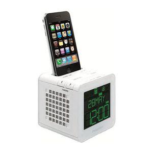 princeton FMラジオ搭載目覚まし機能つきスピーカーi-BLOQ(ホワイト) PSP-BQW