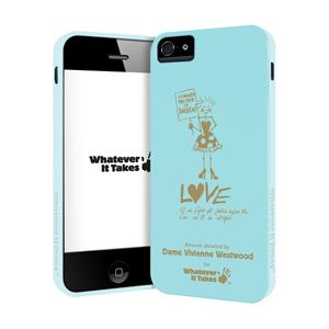 princeton iPhone 5用プレミアムジェルシェルケース (Dame Vivienne Westwood/ブルー) WAS-IP5-GVW01