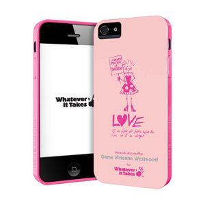princeton iPhone 5用プレミアムジェルシェルケース (Dame Vivienne Westwood/ピーチ) WAS-IP5-GVW02