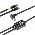 (まとめ)HORIC アンテナ分波器 ケーブル一体型 2m/50cm ブラック AP-SP021BK【×5セット】の詳細ページへ