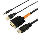 (まとめ)HORIC VGA→HDMI 変換ケーブル 2m ブラック VGHD20-030BK【×2セット】の詳細ページへ