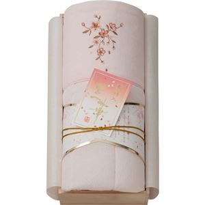 桜刺しゅうパイル肌布団(木箱入) ピンク B4147609
