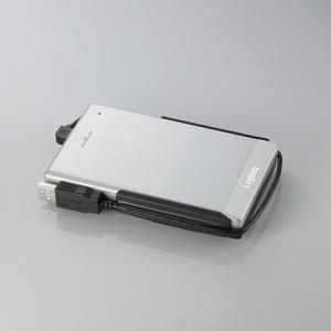 ロジテック USB2.0 アルミボディ&耐衝撃ポータブルHDD 250GB(シルバー)
