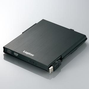 Logitec(ロジテック) USB2.0 バスパワー対応 ポータブルDVDスーパーマルチ/UMPC対応(ブラック)