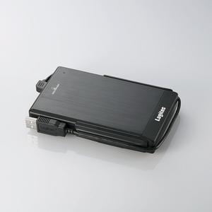 Logitec(ロジテック) USB2.0 アルミボディ&耐衝撃ポータブルHDD 320GB(ブラック) LHD-PBF320U2BK
