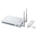 Logitec(ロジテック) IEEE802.11n(Draft)/g/b準拠 無線LANブロードバンドルータ+無線USBアダプタセット LAN-WN22-RU2