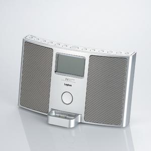 Logitec(ロジテック) FM/AMチューナー搭載 iPod Dock対応Hi-Fiサウンドシステム(シルバー) LDS-RI710SV