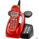ユニデン ディズニーキャラクターコードレス留守番電話機(ディズニー着信音)UCT-012R メタリックレッド  写真1