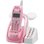 ユニデン ディズニーキャラクターコードレス留守番電話機(ディズニー着信音)UCT-012P パールピンク