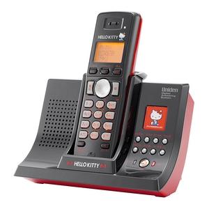 ユニデン ハローキティデジタルコードレス留守番電話機 UCT-005-R レッド
