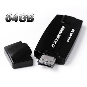 SILICON POWER(シリコンパワー) ポータブルSSD eSATA接続 64GB ブラック