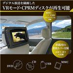 車載兼用7インチ液晶 CPRM対応ポータブルDVDプレーヤー DS-PP70NC104 ブラック